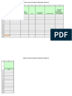 Project Dependency Spreadsheet Template