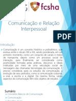 Comunicação e Relação Interpessoal