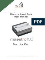 MAESTRO 100 Smart Pack User Manual 0094d