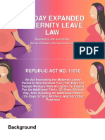 Expanded Maternity Leave Law Presentation 28Apr2019