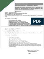 Work Experience Sheet CS Form No. 212