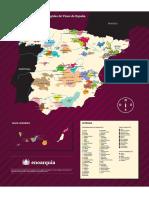 Mapa Denominaciones de Origen Vino