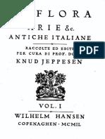 Libro Spartito Arie Antiche Italiane La Flora Vol i