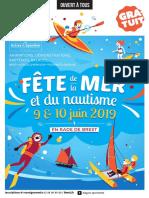 Fete de La Mer Et Du Nautisme Flyer 2019