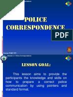 Module 2.1. Police Correspondence Final