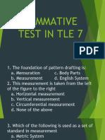 Summative Test in Tle 7