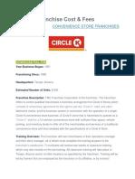 Circle K Franchise Cost.docx