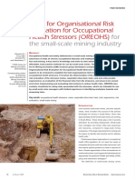 Tools for Organisational Risk Evaluation for Occupational Health Stressors (OREOHS) for the Small-sc