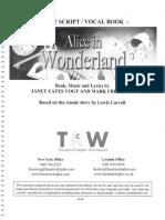 Alice in Wonderland Cast Script