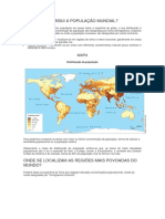 Como Se Distribui a População Mundial