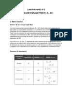 Parametros R, Xl y Xc