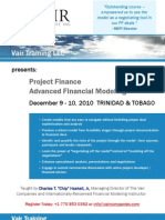 Project Finance Advanced Modeling - Trinidad & Tobago
