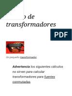 Diseño de Transformadores - Wikipedia, La Enciclopedia Libre