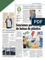 Sanciones Por Entrega de Bolsas de Plástico