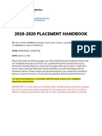 Placement Handbook 2019-2020