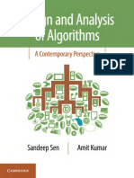 Design and Analysis of Algorithms- A Contemporary Perspective - Amit Kumar (2019)