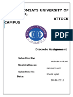 Hurara Discrete Assignment