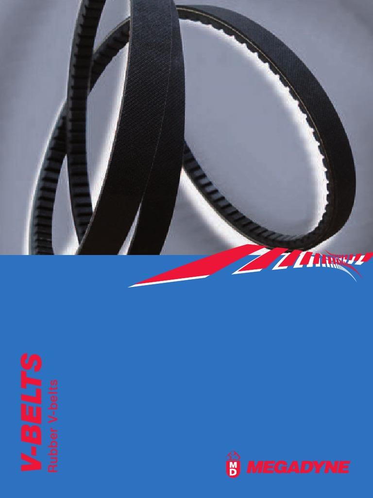 TIRE /& RUBBER AX52 Classical V-Belt 1//2 X 54 In FLEX COGGED BELT