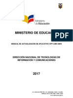 Manual Actualización de Aplicativo Gbsi