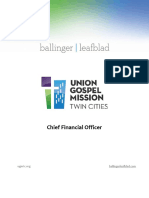 Executive Position Profile-Union Gospel Mission Twin Cities - CFO
