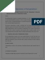Jurisprudence Questions Answers