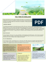Tea Time in England Reading Comprehension Exercises 109756