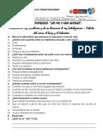 Control de Lectura - Historia Del Rey Schahriar y de Su Hermano El Rey Schahzaman- Fábula Del Asno, El Buey y El Labrador- 5to Sec
