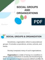 19. Social Groups and Organization