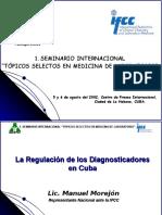 La Regulacion de Los Diagnosticadores Manuel Morejon Campa