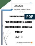 Auxiliar Electricista Redes de Media y Baja Tension 16-08-2018