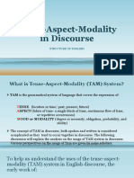 Tense-Aspect-Modality in Discourse REPORT [Autosaved] [Autosaved]