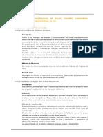 Especificaciones Tecnicas Estructuras