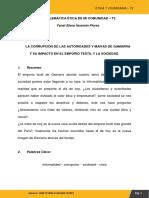 GAMARRA CONFLICTO ETICO