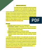 Cirrosis y Síndrome Ictérico