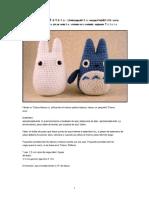 Totoro - White and Small Blue Totoro Amigurumi Pattern.en.Es