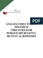 Analiza Structurii Si Dinamicii Cheltuie