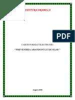 Carte Format Electronic - Prevenirea Abandonului Scolar Volumul i, August 2018