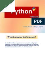 Python 01 Intro