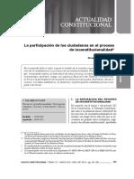 La Participación de Los Ciudadanos en El Proceso de Inconstitucionalidad - Doctor Omar Sar