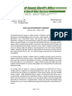 GCSO LAW ENFORCEMENT SUMMARY MAY 20, 2019 – JUNE 2, 2019
