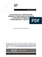 Evaluation of Vernacular Earthern Architecture in the Province of Mendoza Approaches and ResultsEvaluacin de La Arquitectura Verncula Construida en Tierra en La Provincia de Mendoza Planteamientos y Resultados20 (1)