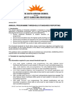 2014 Annual Programme Accreditation Reporting