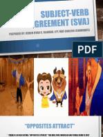 Subject-Verb Agreement (Sva)