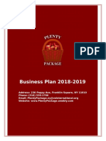 business plan - plenty package