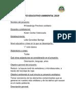 Proyecto Educativo Ambiental 2019