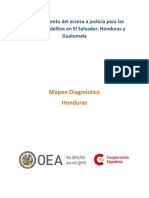 MapeoDiagnóstico Honduras AccesoJusticia Victimas
