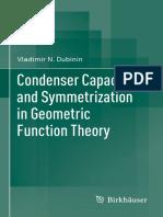 Condenser Capacities And Symmetric