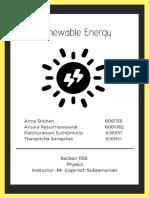 renewable energy  1   1