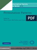 Permutation Patterns, St Andrews 2007.pdf