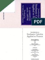 (Chapman & Hall_ Financial Mathematics Series) Damien Lamberton, Bernard Lapeyre, Nicolas Rabeau, Francois Mantion - Introduction to Stochastic Calculus Applied to Finance-Chapman & Hall (1996)